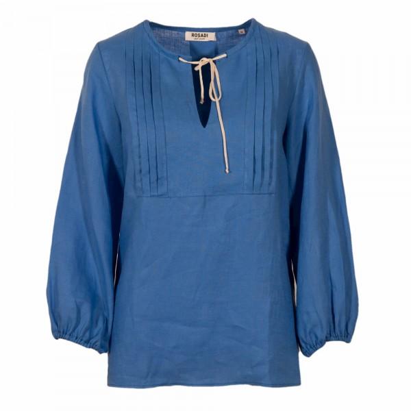 Shirt No.2 Leinen Tunika Blau