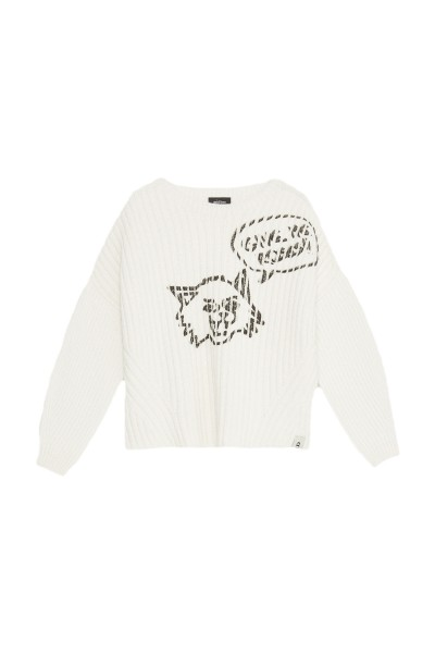 Ottod'Ame Strickpullover Cat Print