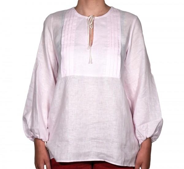 Shirt No.2 Leinen Tunika Rosa