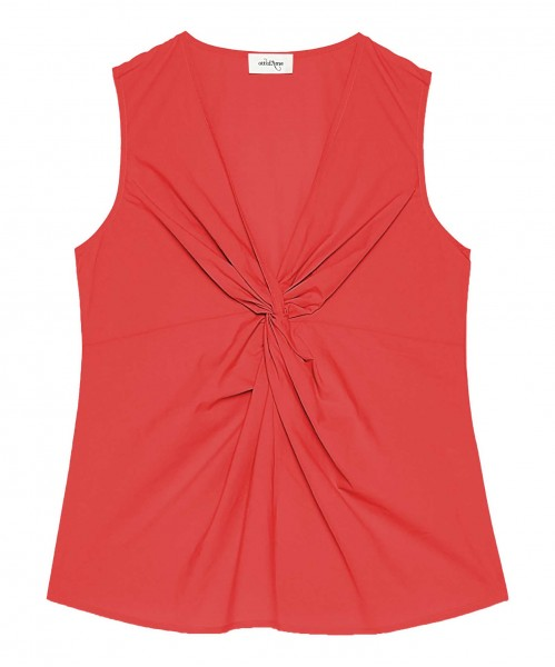 Ottod'Ame Top mit Knotendetail Rot