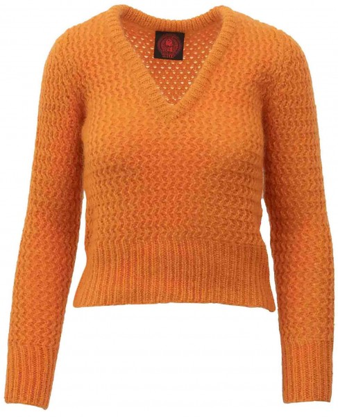 Happy Sheep Strickpullover Orange