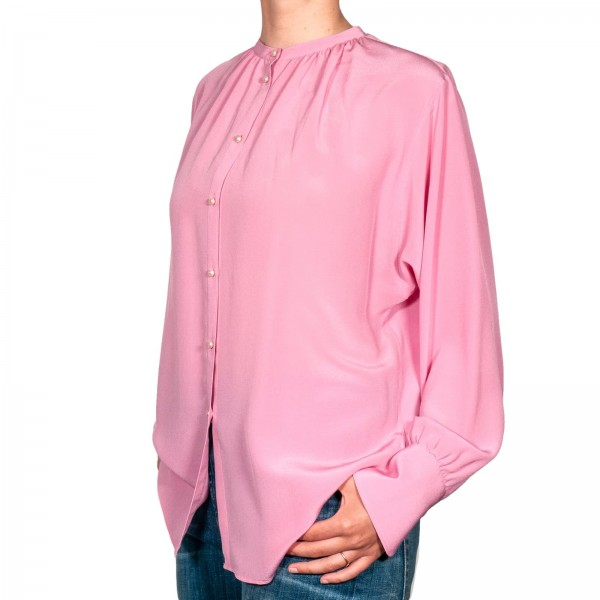 Caliban Seidenbluse Pink